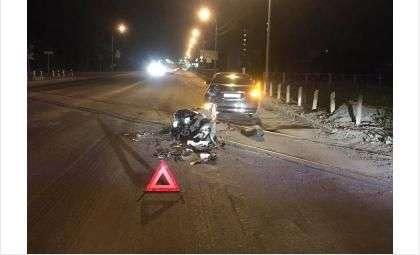 Мотоциклист пострадал в ДТП