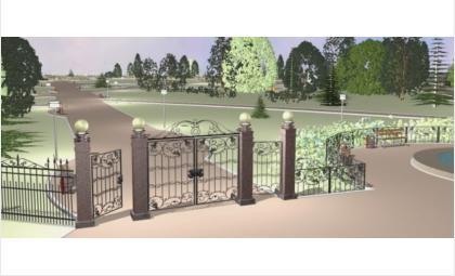 Ворота будут металлическими, как и забор