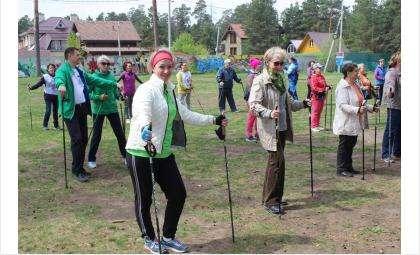 Мастер-класс и соревнования по скандинавской ходьбе