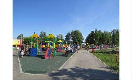 Детскую площадку официально открыли 1 сентября