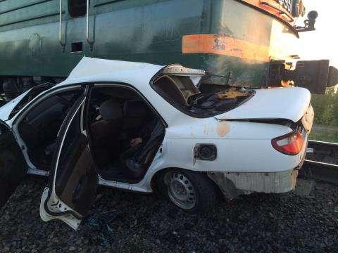 Водитель и пассажир «Тойоты» скончались при ДТП с поездом в Искитиме