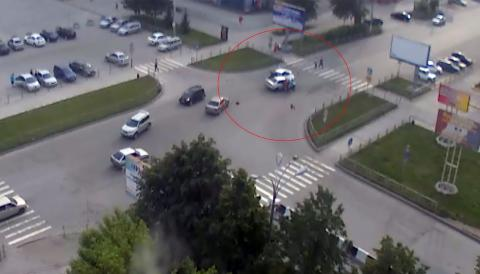 Кадр с камеры видеонаблюдения