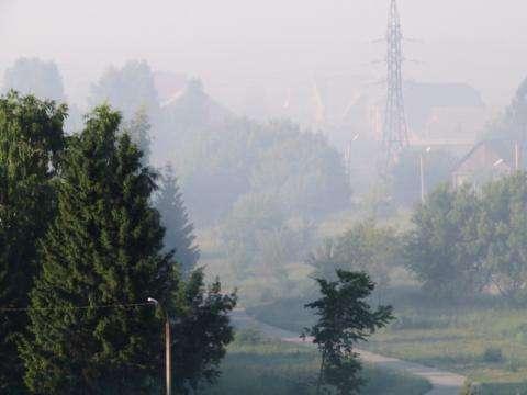 Бердск к утру 7 июля был затянут смогом от горящей свалки
