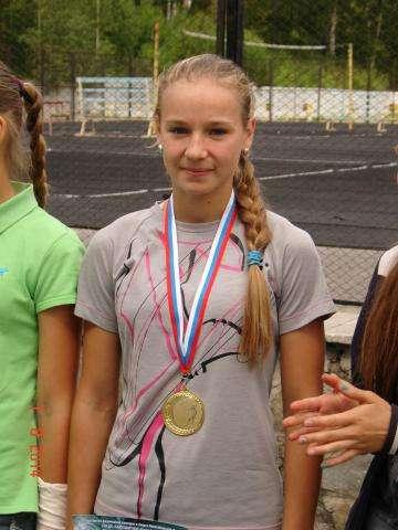 Анастасия Филонова - победительница спринтерской гонки