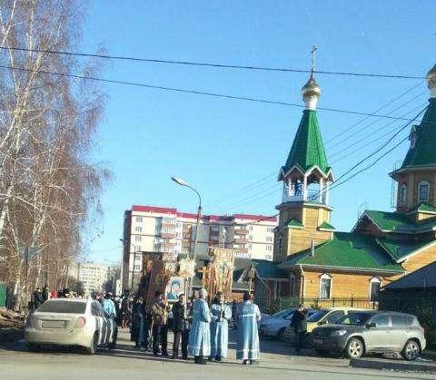 Крестный ход в Бердске. Фото Василия Круглыхина