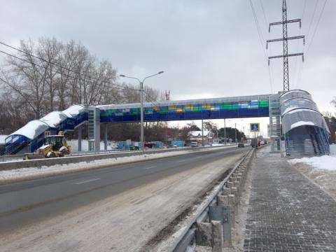 Надземный пешеходный переход у Речкуновки. Фото Сибуправтодор