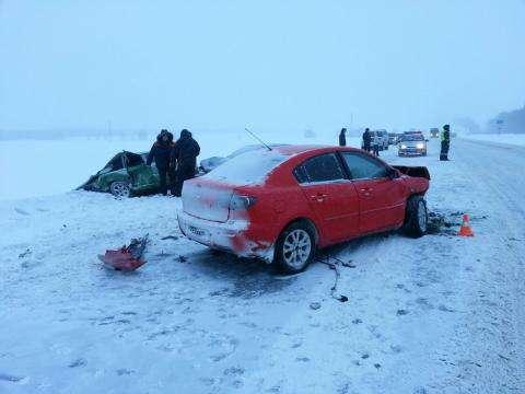 В аварии пострадал водитель Жигулей