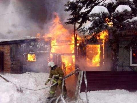 Дом на ул. Чернышевского полностью сгорел