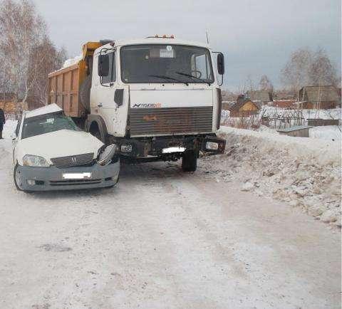 Автомобиль «Тойота Марк 2» столкнулся с автомобилем МАЗ