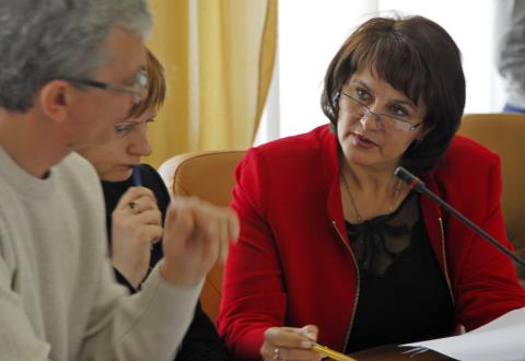 Елена Белова на сессии горсовета Бердска