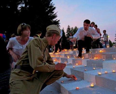 Акция «Свеча Памяти» традиционно проходит 22 июня в Бердске