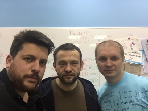 Леонид Волков, Сергей Бойко, Егор Савин. Фото ©leonidvolkov.ru