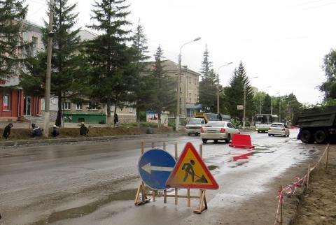 В Бердске идет реконструкция ул. Ленина - второй этап