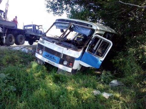 В дежурном автобусе ехали работники бердской фирмы Кристалл
