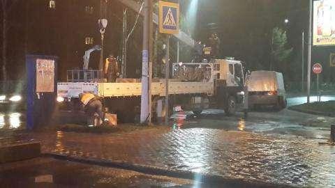 На перекрестке улиц Ленина и Первомайская установили блоки - дорогу перекрыли 20 октября