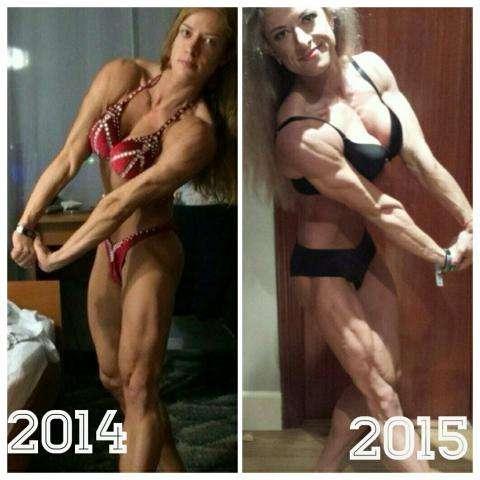 На этих фото Александры Руденко - разница в год. Фото из личного архива Александры Руденко