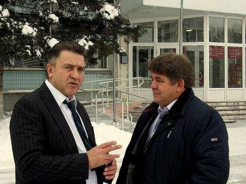 Андрей Шимкив и глава Бердска Евгений Шестернин. Как подчеркнул Шимкив, они с Шестерниным много лет дружат семьями