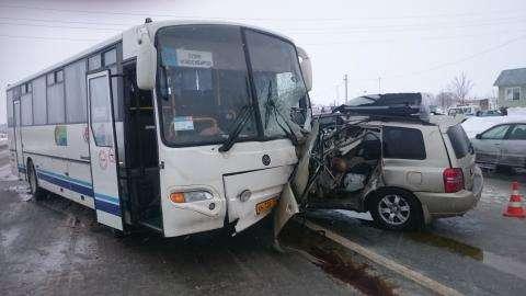 В аварии погиб водитель Тойоты