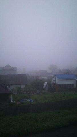 Густой туман накрыл Бердск под утро 28 июля