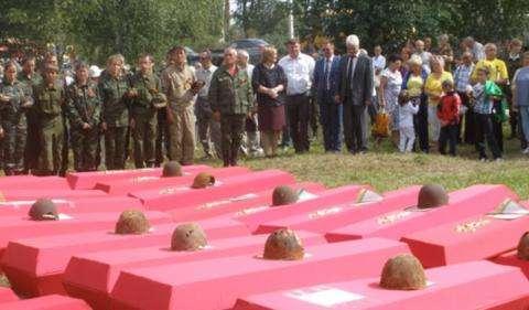 Каждый боец, найденный на полях сражений времен ВОВ, похоронен с почестями