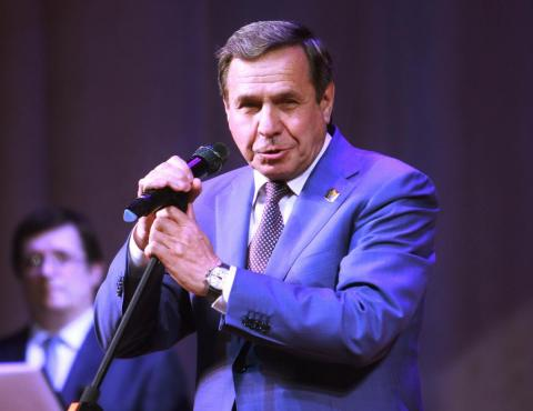 Владимир Городецкий, губернатор Новосибирской области, на торжествах в Бердске
