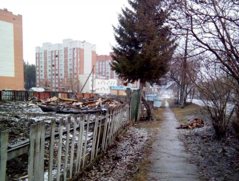 Три частных дома куплены и снесены под ноль у Молодежного в Бердске