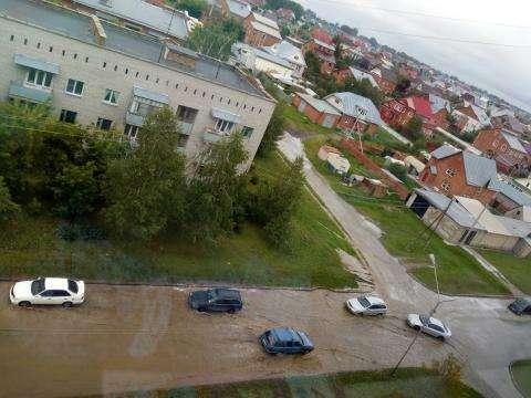 Потоп на ул. Рогачева и ул. Новая